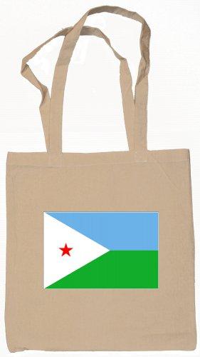 Djibouti Djiboutian Flag Souvenir Canvas Tote Bag Shopping School Sports Grocery Eco