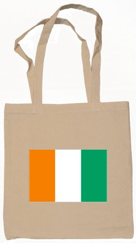 Cote d'Ivoire  Flag Souvenir Canvas Tote Bag Shopping School Sports Grocery Eco