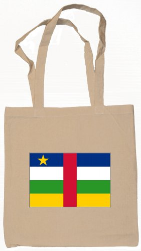 Central African Republic Flag Souvenir Canvas Tote Bag Shopping School Sports Grocery Eco