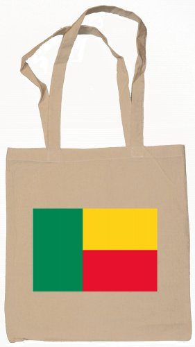 Benin Beninese Flag Souvenir Canvas Tote Bag Shopping School Sports Grocery Eco