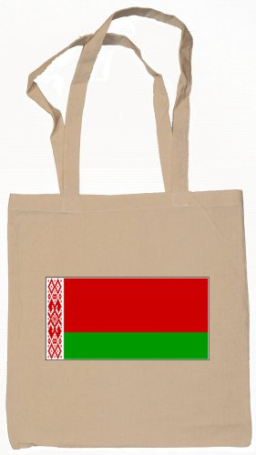 Belarus Belarusian Flag Souvenir Canvas Tote Bag Shopping School Sports Grocery Eco