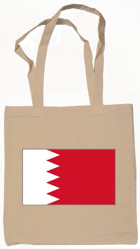 Bahrain Bahraini Flag Souvenir Canvas Tote Bag Shopping School Sports Grocery Eco