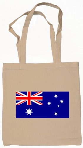 Australia Australian Flag Souvenir Canvas Tote Bag Shopping School Sports Grocery Eco