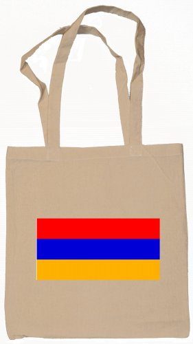 Armenia Armenian Flag Souvenir Canvas Tote Bag Shopping School Sports Grocery Eco