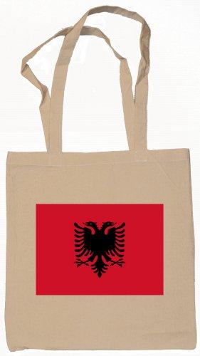 Albania Albanian Flag Souvenir Canvas Tote Bag Shopping School Sports Grocery Eco
