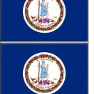 2 Virginia State Flag Stickers Decals Sticks to Almost Anything