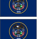 2 Utah State Flag Stickers Decals Sticks to Almost Anything