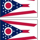 2 Ohio State Flag Stickers Decals Sticks to Almost Anything