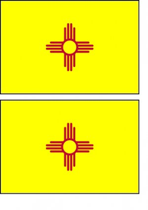2 New Mexico State Flag Stickers Decals Sticks to Almost Anything