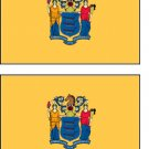 2 New Jersey State Flag Stickers Decals Sticks to Almost Anything
