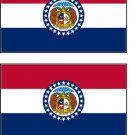 2 Missouri State Flag Stickers Decals Sticks to Almost Anything