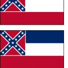 2 Mississippii State Flag Stickers Decals Sticks to Almost Anything