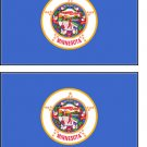 2 Minnessota State Flag Stickers Decals Sticks to Almost Anything