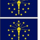 2 Indiana State Flag Stickers Decals Sticks to Almost Anything