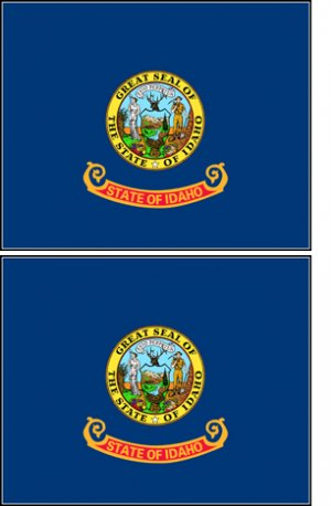 2 Idaho State Flag Stickers Decals Sticks to Almost Anything