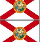2 Florida State Flag Stickers Decals Sticks to Almost Anything