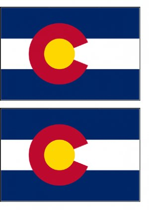 2 Colorado State Flag Stickers Decals Sticks to Almost Anything
