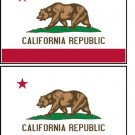 2 California State Flag Stickers Decals Sticks to Almost Anything