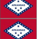 2 Arkansas State Flag Stickers Decals Sticks to Almost Anything