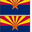 2 Arizona State Flag Stickers Decals Sticks to Almost Anything