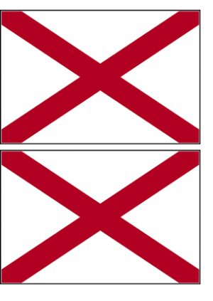 2 Alabama State Flag Stickers Decals Sticks to Almost Anything