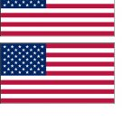 2 USA Flag Stickers Decals Sticks to Almost Anything