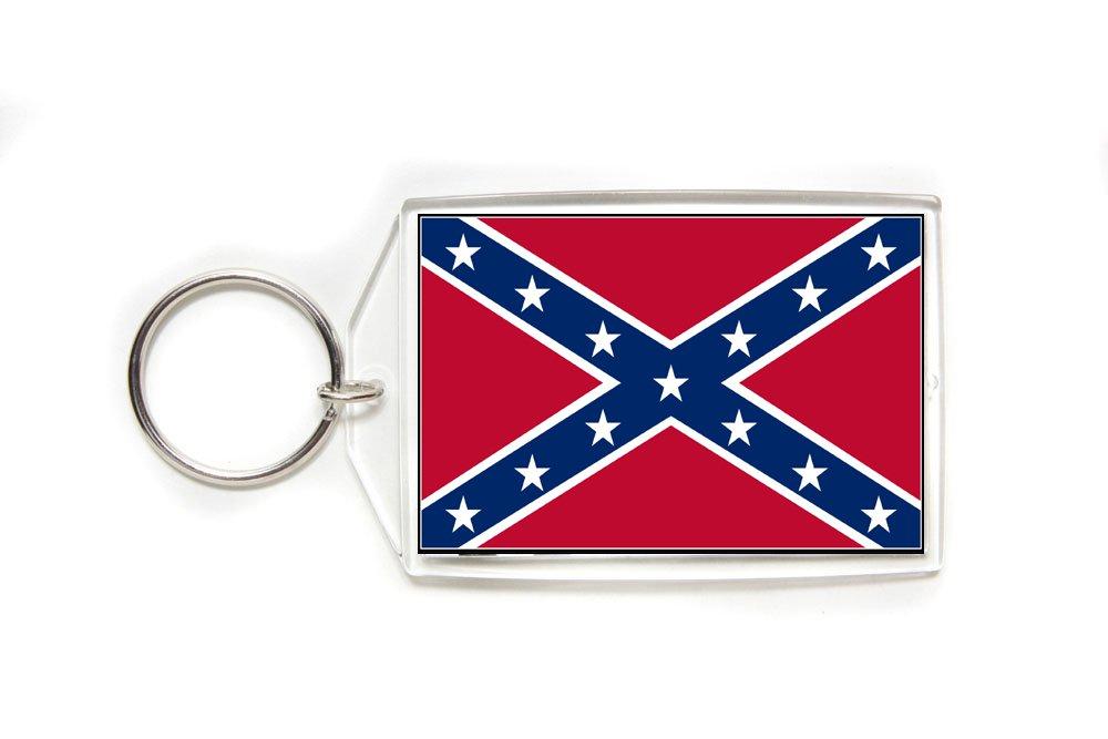 Confederate Rebel Flag Key Ring-Large