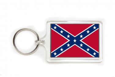 Confederate Rebel Flag Key Ring-Medium
