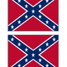 Confederate Rebel Flag Stickers