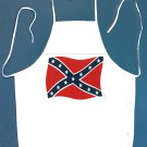 Waving Confederate Rebel Flag Apron