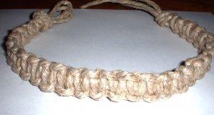 Thick Hemp choker necklace