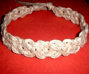 Celtic Knot Thick Hemp Choker Necklace