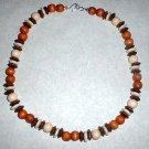 Wood Bead Choker Necklace