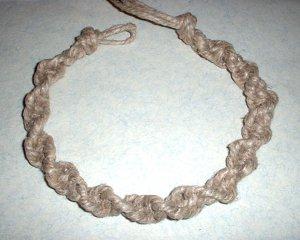 Thick Hemp Twist Choker Necklace