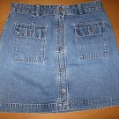 GAP Button Front Denim Jean Skirt Size 8