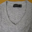 THE LIMITED CASHMERE BLEND V NECK SWEATER SMALL S