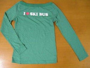 NWOT AE AMERICAN EAGLE I Love SKI BUS Shirt Top M