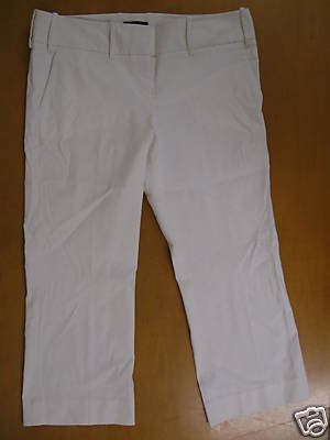 THE LIMITED White Capri Cropped DREW FIT Pants 10 Mint
