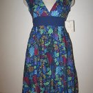 NEW NWT DEREK HEART Floral Empire Waist Dress Medium M