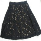 BEAUTIFUL ANNE KLEIN A-LINE EMBROIDERED FLOWER SKIRT 6