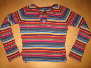 ABERCROMBIE & FITCH Colorful Pullover Sweater M