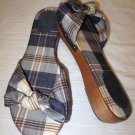 NEW Plaid Fabric Knotted J CREW Flats Sandals Shoes 6