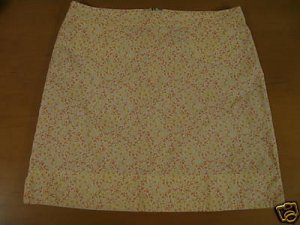 Womens AMERICAN EAGLE Floral A-Line Skirt Size 8