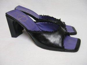 Designer LA FEMME PUBLIQUE Beaded Heels Sandals 38 8
