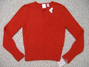 NWT So Soft Heart Brand Keyhole Sweater Size Large L