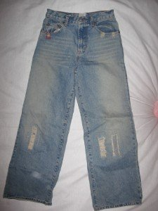BOYS DISTRESSED LUCKY BRAND DUNGAREES COOL PATCHWORK 14