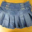 Pleated AEROPOSTALE Denim Jean Mini Skirt Size 1/2