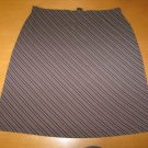 GAP Stretchy A-Line Striped Skirt Size XL
