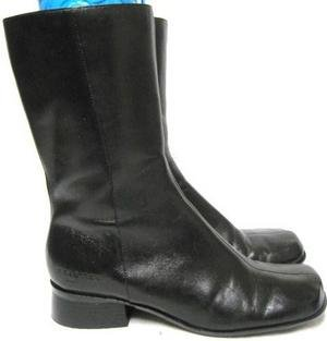 BEAUTIFUL Black Leather KENNETH COLE Calf Boots 5 1/2