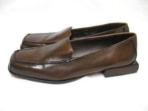 Brown Leather Square Heel COLE HAAN Flats Shoes 6 AA EC